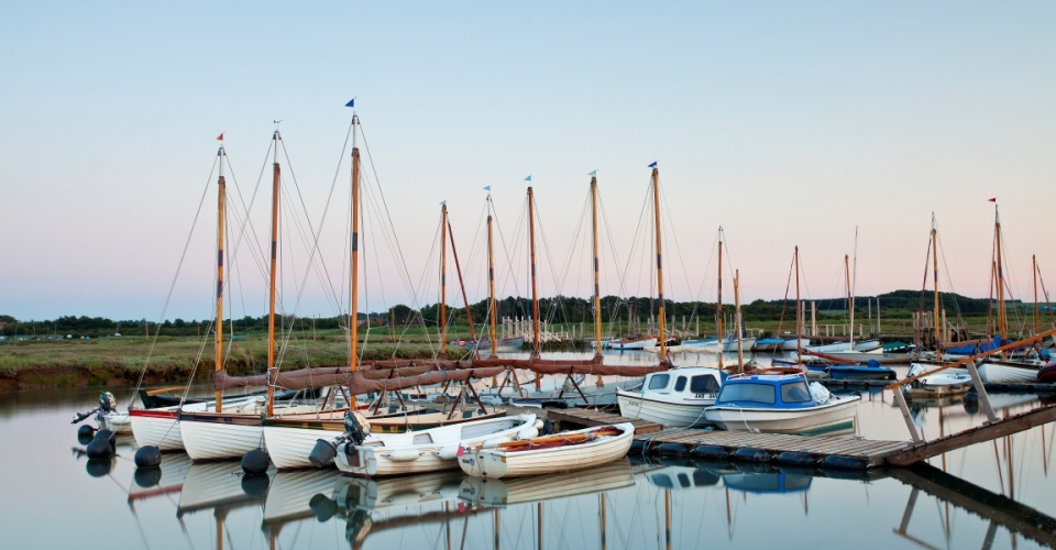 Boats at Morston on the Norfolk Coast